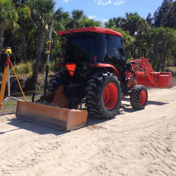 Excavator Mowing Ditches Ponds